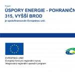 Snížení energetické náročnosti domu čp. 315